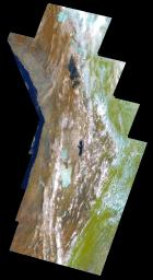 PIA00133: Earth - False Color Mosaic of the Andes