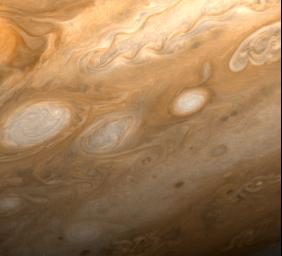 PIA01513: Jupiter - Southeast of Great Red Spot