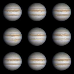 PIA02825: Nine Frames as Jupiter Turns