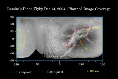 PIA06150: First Flyby of Dione