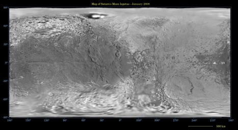PIA08406: Map of Iapetus - January 2008