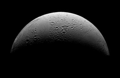 PIA08409: The North Polar Region of Enceladus