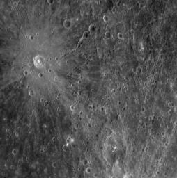 PIA10173: Mercury's Cratered Surface