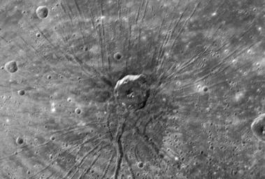 "PIA10397: ""The Spider"" - Radial Troughs within Caloris"