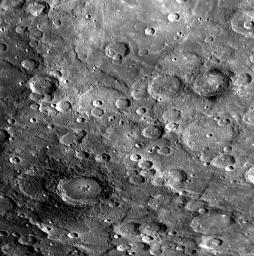 PIA10602: Craters with Dark Halos on Mercury