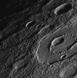 PIA11759: Peak-Ring Basin Close-Up from the Second Mercury Flyby
