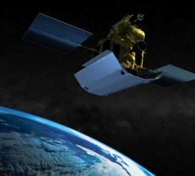 PIA18148: MESSENGER Departing Earth (Artist's Concept)