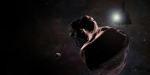 PIA22190: New Horizons Encountering 2014 MU69 (Artist's Impression)