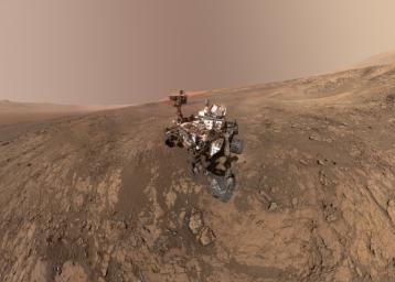 PIA22207: Mount Sharp 'Photobombs' Curiosity