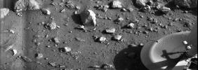 PIA00381: First Photograph Taken On Mars Surface