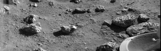 PIA00396: Viking Lander 2's First Picture On The Surface Of Mars