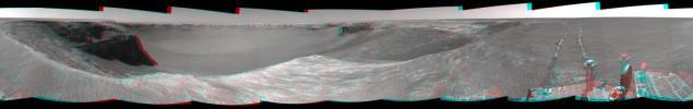 PIA01893: Opportunity's View, Sol 959, (Stereo)