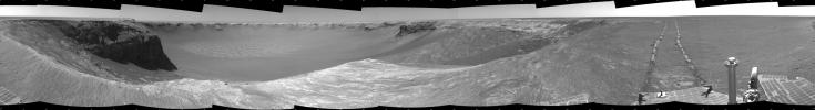 PIA01894: Opportunity's View, Sol 959 (Cylindrical)