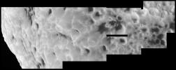 PIA07741: Hyperion's Unusual Craters