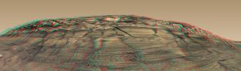 PIA08578: 'Burns Cliff' in Color Stereo