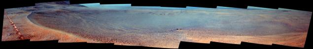 PIA21707: Mars Rover Opportunity's View of 'Orion Crater' (Enhanced Color)
