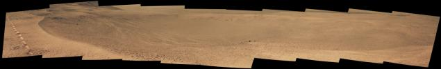 PIA21708: Mars Rover Opportunity's View of 'Orion Crater'
